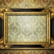 Stock Photo: Antique gold frame