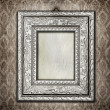 Stock Photo: Silver ornate frame