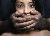 Violenza domestica — Foto Stock