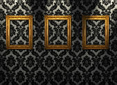 Gold ornate frames — Stock Photo