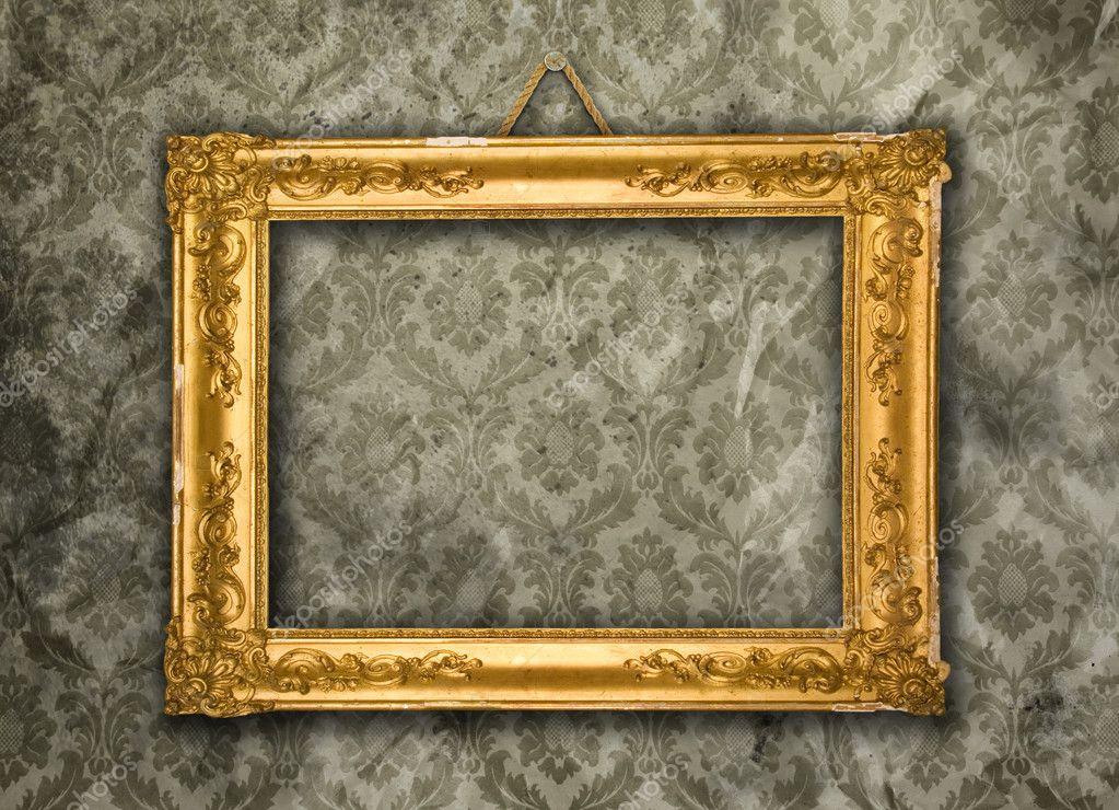 Golden Frame Wallpaper Gold Frame Aged Wallpaper