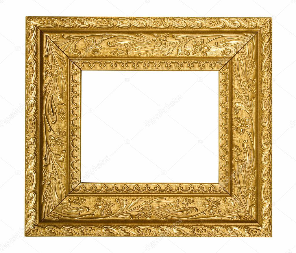 Vintage gold ornate frame — Stock Photo © NinaMalyna #5854091