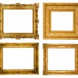Stock Photo: Gold frames