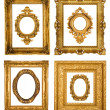 Gold frames — Foto Stock
