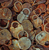 Old rusty locks — Stock Photo