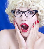 Krásná blondýnka — Stock fotografie