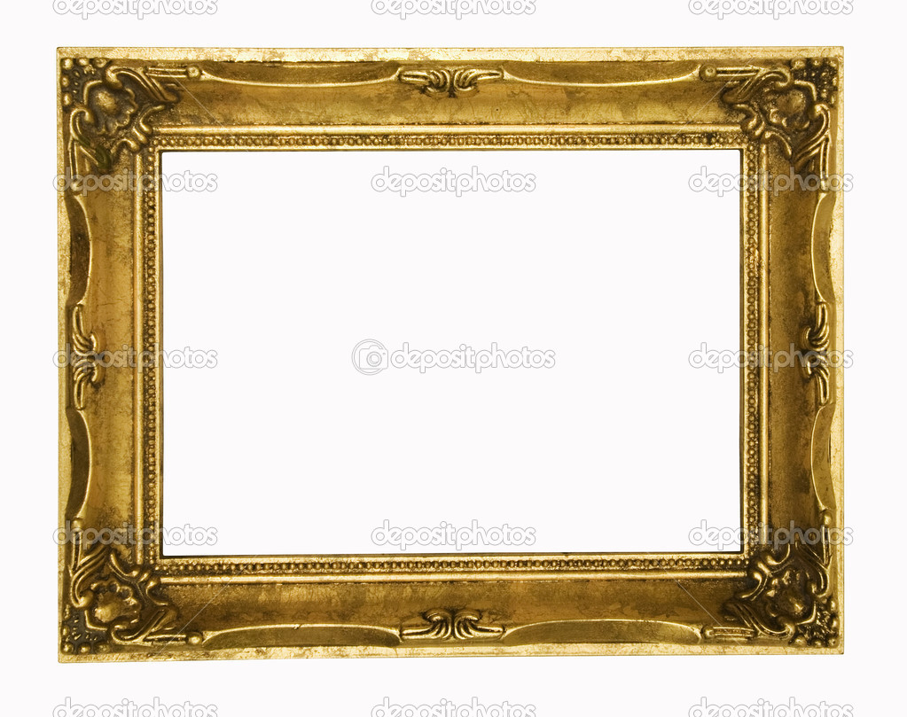 Old frame on a white background — Stock Photo #6684706