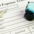 Auto expense form — Stock Photo