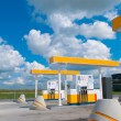 Royalty-Free Stock Photo: Modern gas station on a background sky