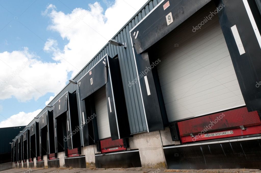 Row of old loading docks — Stock Photo #5806204