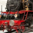 Part of a model steam locomotive with shallow DOF — Stock Photo