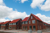 Row of new houses in suburb — Stock Photo