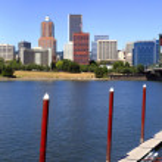 A panorama of downtown Portland Oregon. — Stock Photo