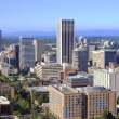 Skyline view of Portland Oregon. - Stock Photo