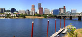 A panorama of downtown Portland Oregon. — Stock Photo