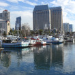 San Diego Marina panorama. — Stock Photo
