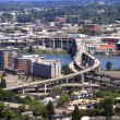 Traffic & freeways Portland Oregon. — Stock Photo