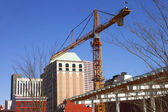 Construction & crane Downtown Portland OR. — Stock Photo