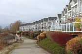 Row of condominiums Vancouver WA. — Stock Photo