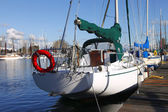 Sailboats moored Portland Oregon. — Stock fotografie