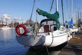Segelboote ankern portland oregon. — Stockfoto