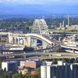 Stock Photo: Fremont bridge Portland OR.