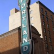 Royalty-Free Stock Photo: Portland sign.