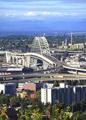 The Fremont bridge, Portland OR. — Stock Photo