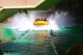 A big splash, in a water park Los Angeles California. — Stock Photo
