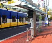 Modern bus stop, Portland OR. — Stock Photo