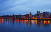 Portland OR., at dusk. — Stock Photo