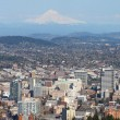 Portland Oregon panorama from Pittok Mansion. — Stock Photo