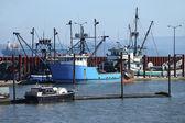 Fishing boats in a marina. — Stock Photo