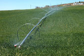 Automated spraying in an alfalfa farm, southern Oregon. — Stock Photo