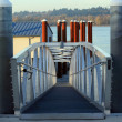 Boat ramp pedestrian overpass. — Stock Photo