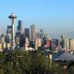 A skyline of downtown Seattle Washington. — Stock Photo