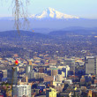 Stock Photo: Mt. Hood & Portland panorama.