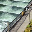 Stock Photo: Fish ladders Bonneville Dam, Oregon.