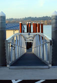 Boat ramp pedestrian overpass. — Stock Photo