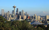 A skyline of downtown Seattle Washington. — Stock Photo