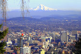 Mt. Hood & Portland panorama. — Stock Photo