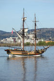 Galleon sailing in the Columbia river OR. — Stock Photo