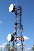 Telecommunication & cell towers technology. — Stock Photo