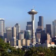 Stock Photo: Panoramof Seattle Washington.