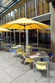 Outdoor café und restaurant, portland oregon. — Stockfoto