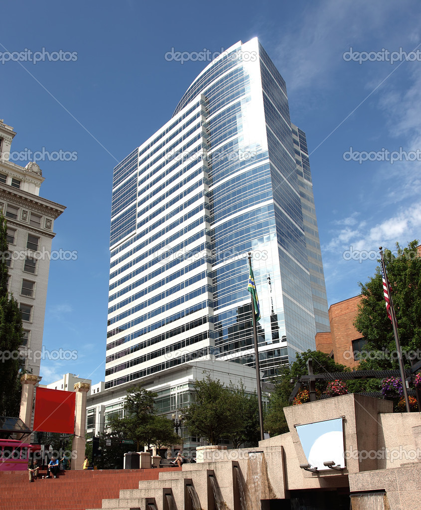 The Fox Tower and Pioneer square area, Portland OR. — Stock Photo #6238832