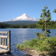 Stock Photo: Trillium Lake & Mount Hood, Pacific northwest outdoors.