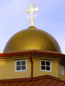 Gold Cupola and crosses. — Stock Photo