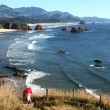 Stock Photo: Ecolstate park, Oregon coastline.