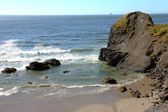 Oregon coast pacific northwest cliffs & beaches. — Stock Photo